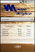 Screenshot of Mareas de Galicia