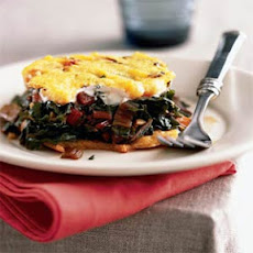 Baked Cheese Polenta with Swiss Chard