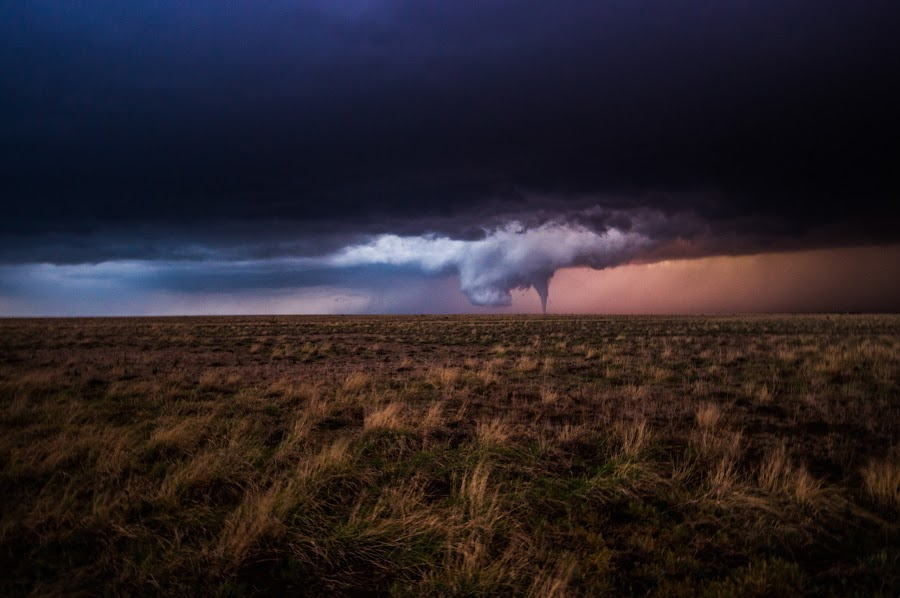 Texas Tornado by Brandon Green - Landscapes Weather ( texas, night, storm chasing, storm, tornado,  )