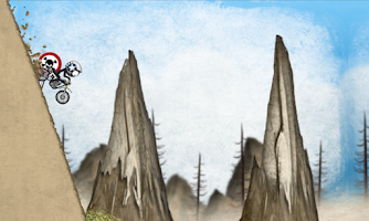 Screenshot of Stickman Downhill Motocross