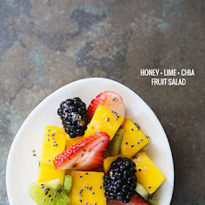 Simple Honey Lime Chia Dressing for Fruit Salad