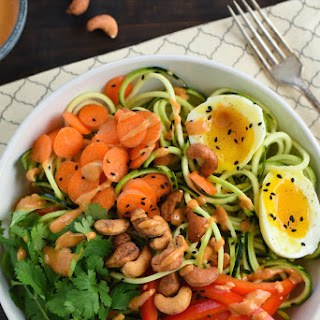 Zucchini Noodle Bowls with Spicy Cashew Sauce