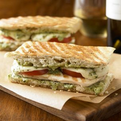 Smoked Chicken and Mozzarella Panini