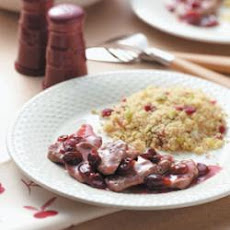 Tenderloin with Cherry Sauce