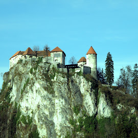 Monastery by Ivan Ristić - Buildings & Architecture Places of Worship ( church, monastery, slovenia, bled, castle, rock, lake )