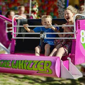 Gee Whizzer by Julien Johnston - City,  Street & Park  Amusement Parks ( ride, park, gee whizzer. children, fun, fair,  )