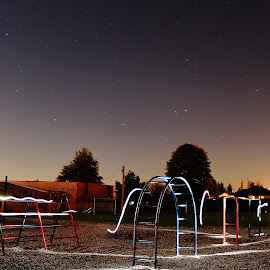 under a full moon by Ryan Chornick - Abstract Light Painting (  )