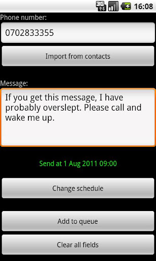 Delayed SMS