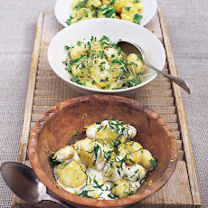 New Potato Salad With Crème Fraîche & Mint