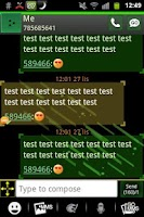 Screenshot of GO SMS PRO Theme Future 2