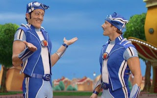 Screenshot of LazyTown's Sportafake BooClip