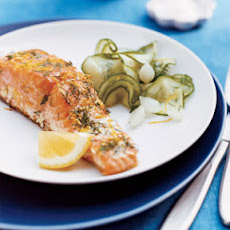 Grilled Lemon-Dill Salmon with Cucumber Salad