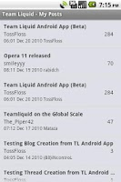 Screenshot of TeamLiquid App (Beta)
