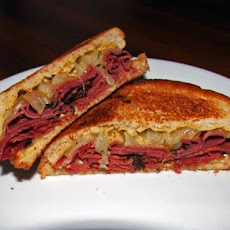 Pastrami and Pickle Pan-Fried Sandwich