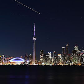 Toronto Skyline by Nikhil Shah - City,  Street & Park  Skylines ( skyline, cn, toronto, island )
