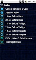 Screenshot of Starcraft 2 Build Orders