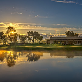 Padre Sunrise 06 by Dave Sansom - Landscapes Sunsets & Sunrises ( scottsdale, dave sansom, golf course, camelback, beautiful skies, golf course photography, marriott, arizona, pictures of golf courses, padre, landscape, phoenix )