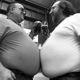 Fat Bellies by David Hickes - People Portraits of Men ( beer, fat bellies, real ale )