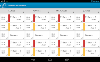 Screenshot of Teacher's Notebook Lite