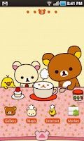 Screenshot of Rilakkuma Theme