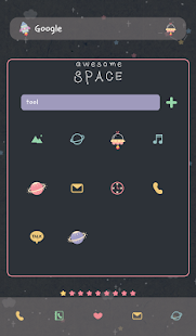awesome space dodol theme - screenshot