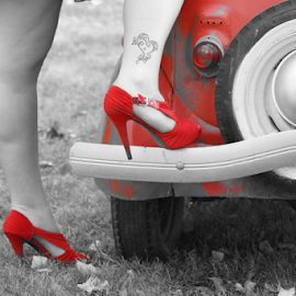 Red Shoes by Tina Hailey - People Body Parts ( red, red shoes, high heels, tinas capture moments,  )