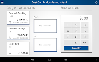 Screenshot of East Cambridge Savings Bank