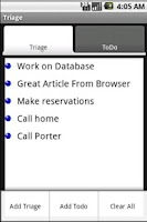 Screenshot of Notes/Todo Triage