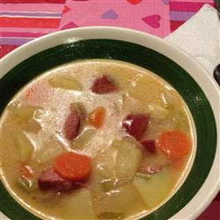 Creamy Kielbasa and Potato Soup