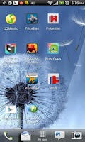 Screenshot of Galaxy S3 Dandelion Water LWP