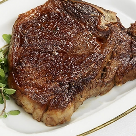 Pan-seared T-Bone steak