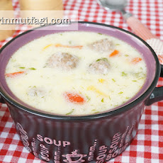 Sour Kofta Soup With Yoghurt