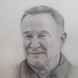 Tribute to Robin Williams by Alfonso Rahardja - Drawing All Drawing