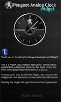 Screenshot of Peugeot Analog Clock Widget HD