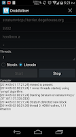 Screenshot of DroidMiner BTC/LTC/DOGE Miner