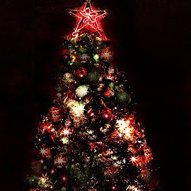 Shinning by Ray Alexander - Digital Art Things ( tree, lamp, christmas, artistic object, shiny,  )