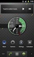 Screenshot of FIGHTER. Army analog clock