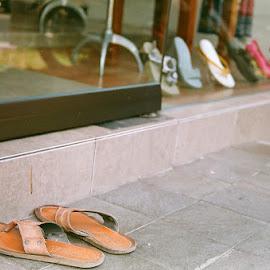 Civilized by Firmansyah Cakman - City,  Street & Park  Markets & Shops ( bali, ubud, civilized, sandals, street photography )