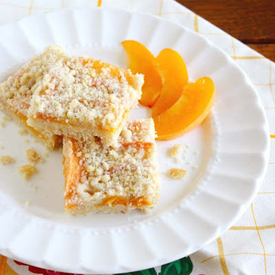 Brandied Apricot Crumb Bars
