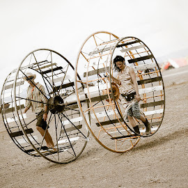 Desert Wheel by Leslie Willmers - Transportation Other ( desert, wheel,  )