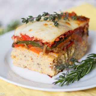 Baked Polenta with Roasted Vegetables