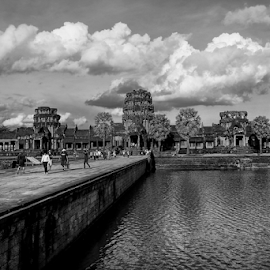 Angkor Wat by Ferdinand Ludo - City,  Street & Park  Historic Districts ( temple, among the many temples, cambodia )
