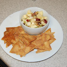 Harvest Apple Salsa with Cinnamon Chips