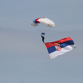 Aeromeeting in Vrsac Serbia by Зоран Милојковић - News & Events World Events ( flag, event, national, aeromiting, serbian, otvaranje, zastava, opening, nacionalna, padobranac, world, parachute )
