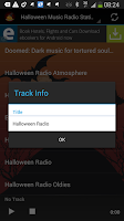 Screenshot of Halloween Music Radio Stations