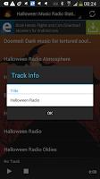 Screenshot of Halloween Music Radio Stations