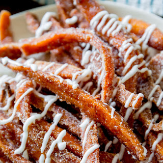 Cinnamon Sugar Sweet Potato Fries with Vanilla Icing Dip