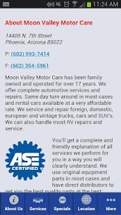 Moon Valley Motor Care - screenshot