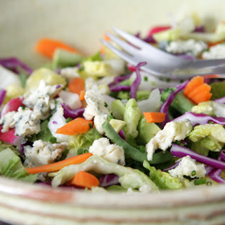 Chopped Vegetable Salad with Lemon-Garlic Dressing