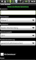 Screenshot of Lohn Rechner Beta